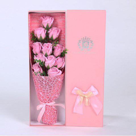 Discount 11 PCS Handmade Soap Rose Mother's Day Gift Artificial Flowers