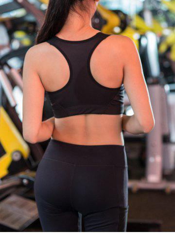 Chic Wireless Zip Up Padded Sports Bra - M BLACK Mobile