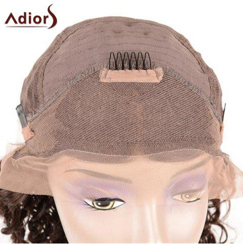 Store Adiors Long Dyed Perm Body Wave Free Part Lace Front Synthetic Wig - 22INCH BLACK Mobile