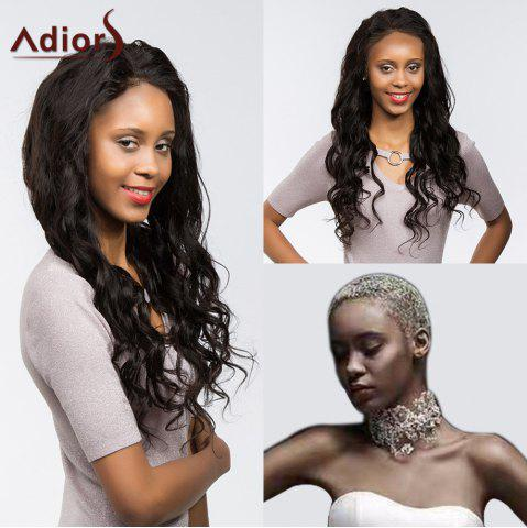 Latest Adiors Long Dyed Perm Body Wave Free Part Lace Front Synthetic Wig - 22INCH BLACK Mobile