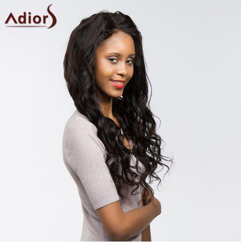 New Adiors Long Dyed Perm Body Wave Free Part Lace Front Synthetic Wig - 22INCH BLACK Mobile