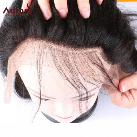 Sale Adiors Long Dyed Perm Body Wave Free Part Lace Front Synthetic Wig - 22INCH BLACK Mobile