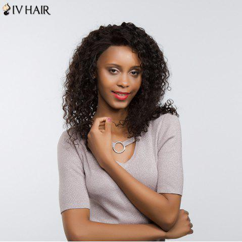 New Siv Hair Long Dyed Perm Free Part Shaggy Deep Curly Lace Front Human Hair Wig - 20INCH NATURAL COLOR Mobile