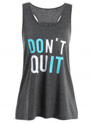 Racerback Do It Tank Top - DEEP GRAY