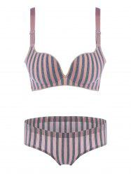 Striped Padded Seamless Bra