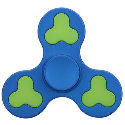 Stress Relief Toy Color Block Triangle Fidget Spinner - BLUE