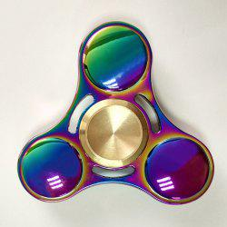 Anti Stress Toy Rainbow Gyro Triangle Fidget Finger Spinner - MULTI COLOR