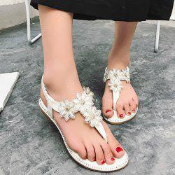 Flowers Elastic Band Flip Flot Sandals