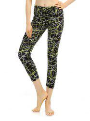 Cropped High Rise Funky Gym Leggings