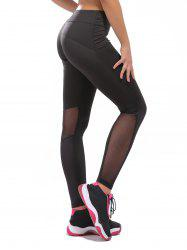 Workout Mesh Panel Compression Leggings