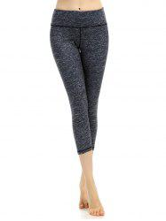 Breathable Marled Cropped Work Out Leggings