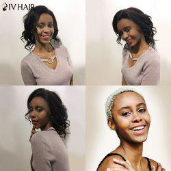 Siv Hair Perm Dyed Free Part Short Body Wave Lace Front 100% Human Hair Wig
