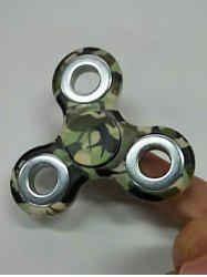 Camouflage Finger Gyro Focus Toy Hand Spinner - ARMY GREEN CAMOUFLAGE