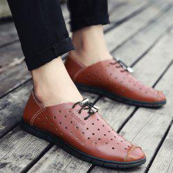 Hollow Out Faux Leather Casual Shoes