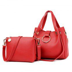 Metal Ring Handbag and Crossbody Bag