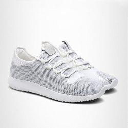 Lightweight Breathable Athletic Mesh Trainers - LIGHT GRAY