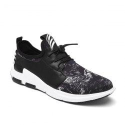 Faux Leather Striped Athletic Shoes