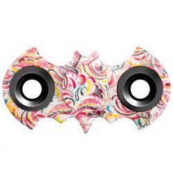 Stress Relief Fiddle Toy Bat Patterned Fidget Spinner - COLORMIX