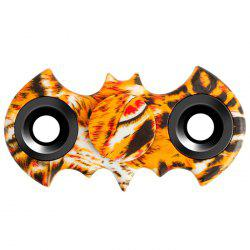 Stress Relief Fiddle Toy Bat Patterned Fidget Spinner - LEOPARD