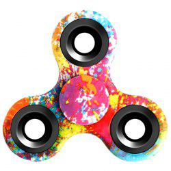 Stress Relief Fiddle Toy Triangle Patterned Fidget Spinner - RED
