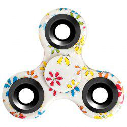 Stress Relief Fiddle Toy Triangle Patterned Fidget Spinner - WHITE