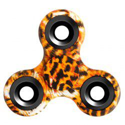 Stress Relief Fiddle Toy Triangle Patterned Fidget Spinner - LEOPARD