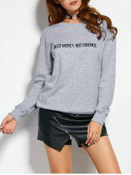 Text Graphic Pullover Sweatshirt