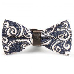 Layer Denim Cirrus Printing Bow Tie