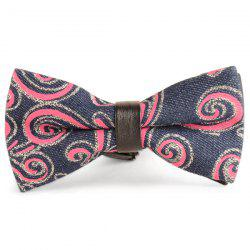 Layer Denim Cirrus Printing Bow Tie -