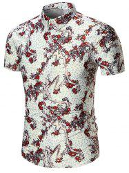 Plus Size Branch Print Shirt