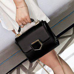 Cross Body Metal Detail Chain Bag