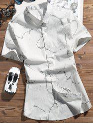 Turndown Collar Geometry Pattern Shirt