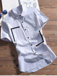 Classic Button Up Short Sleeves Shirt