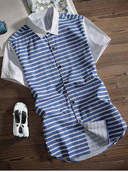 Button Up Striped Printed Shirt
