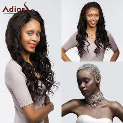 Adiors Long Dyed Perm Body Wave Free Part Lace Front Synthetic Wig - BLACK