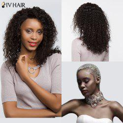 Siv Hair Long Dyed Perm Free Part Shaggy Deep Curly Lace Front Human Hair Wig - NATURAL COLOR