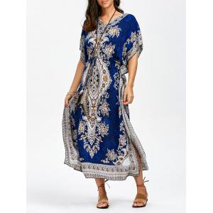 Arab Print Long Maxi Kaftan Boho Summer Dress
