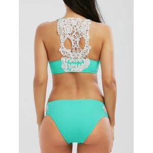 High Cut Crochet Panel Bikini