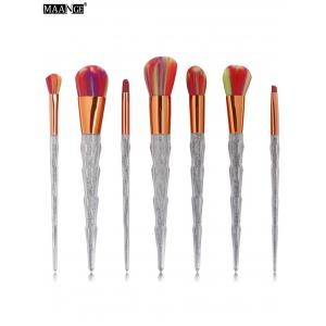 7Pcs Unicorn Conical Multicolor Brush Hair Makeup Brushes Set - Colorful