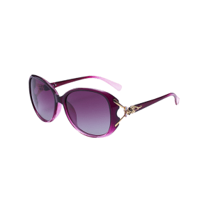 Metallic Engraved Inlay Ombre Sunglasses -