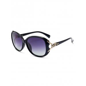Metallic Engraved Inlay Ombre Sunglasses