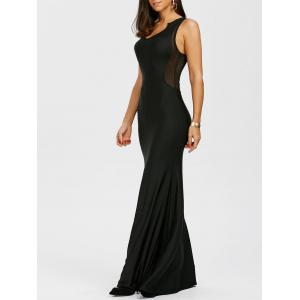 Maxi Fishnet Racerback Cocktail Prom Dress