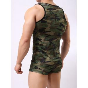 Muscle Camo Tank Top and Boxer Briefs -