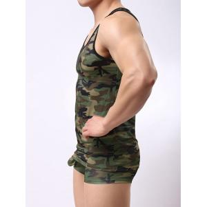 Muscle Camo Tank Top and Boxer Briefs - ACU CAMOUFLAGE M