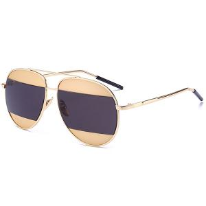 Anti UV Color Block Polit Sunglasses
