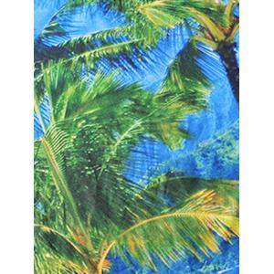 Short Sleeve 3D Coconut Tree Landscape Print T-Shirt - COLORMIX 3XL