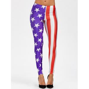 American Flag Mid Waist Leggings