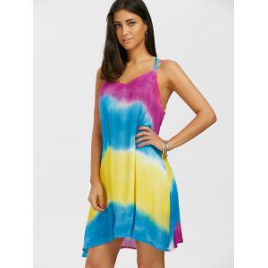 Tie Dye Slip Beach Casual Flowy Dress -