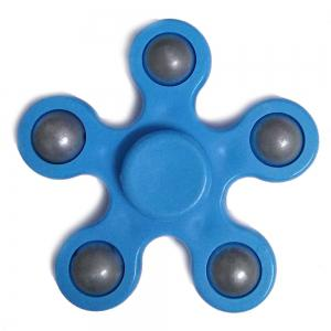 Flower Shape Stress Relief Toy Fidget Spinner Finger Gyro - Blue - 2.3*2.3*2.3cm