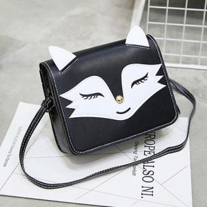 PU Leather Fox Pattern Crossbody Bag -